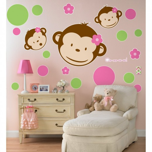 Cute Monkey Wall Decal