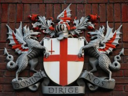 City of London Coat of Arms. Dragon with the Cross.