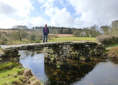 Me standing on the old Clapper Bridge