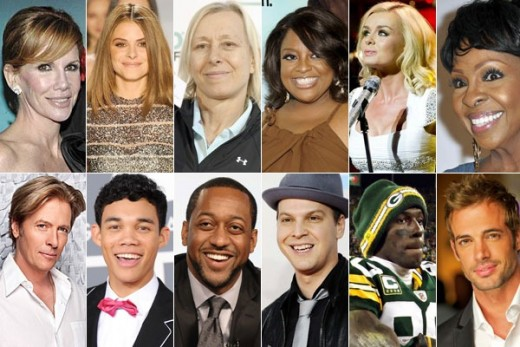 Season 14 Dancing with the Stars Cast clockwise from top left: Melissa Gilbert, Maria Menounos, Martina Navratilova, Sherri Shepherd, Katherine Jenkins, Gladys Knight, William Levy,  Donald Driver, Gavin DeGraw, Jaleel White, Roshon Fegan,Jack Wagner