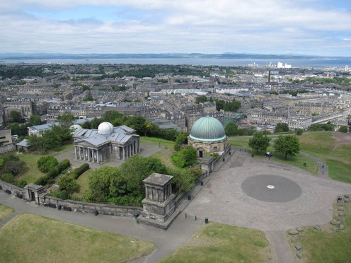 City Observatory from the Nelson Monument