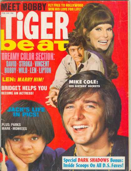 "A VINTAGE MAGAZINE OF ""BACK IN THE DAY."" THIS ONE TALKED ABOUT BOBBY SHERMAN, STAR OF ABC'S ""HERE COME THE BRIDES,"" HIS LOVE LIFE AND SUCCESS STORY."