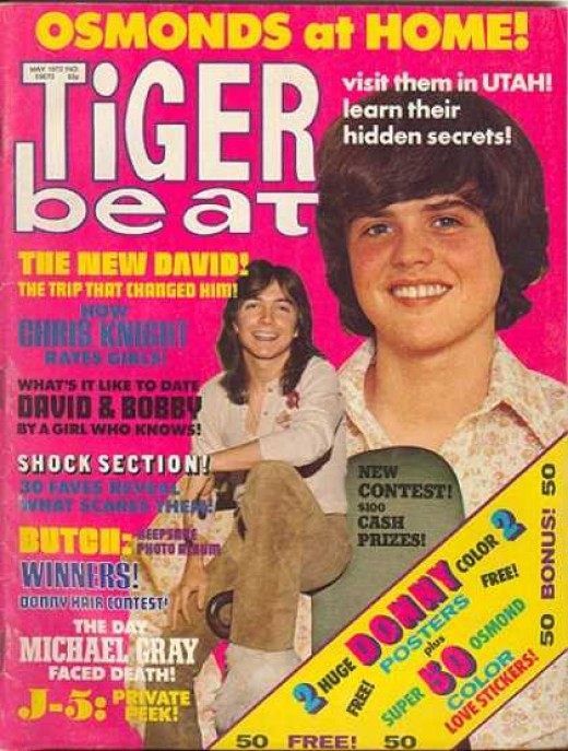 FROM DAVID CASSIDY'S SECRET FASCINATION WITH UNDERWEAR TO DONNY OSMOND'S FATAL WEAKNESS: GRAPE KOOL-AID. NO TEEN ALIVE COULD SURVIVE WITHOUT TIGER BEAT.