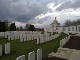A WW1 battlefield grave.
