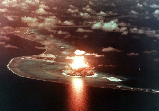 Nuke test in the south Pacific