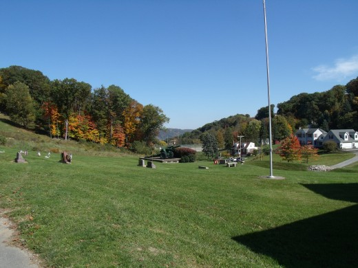 The view northwards from the Coraopolis Cemetery