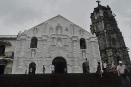 The painted white Daraga Church
