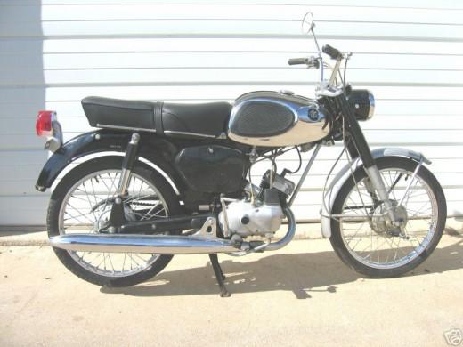 A 1968 Yamaha 50ccmotorcycle