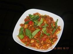 Mushrooms,  Bell Pepper And Peas recipe