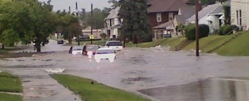 """CARS ARE NOT YACHTS, PEOPLE. USE THE SLOGAN, """"DON'T DROWN. TURN AROUND,"""" WHEN WATERS ARE OVER YOUR CAR HOOD."""