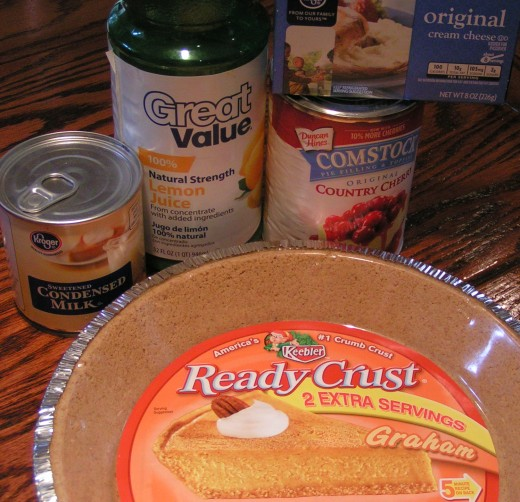 Assemble the ingredients for your cheesecake!