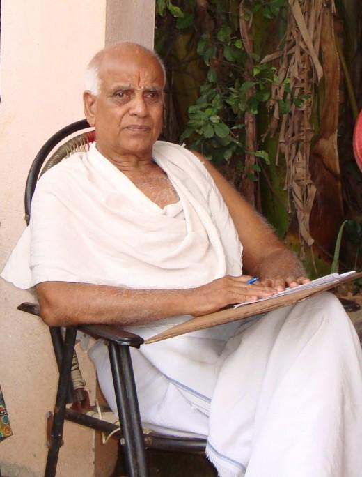 Grandpa Srinivasan who leads a simple life till date