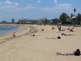 People enjoying @ St Kilda Beach