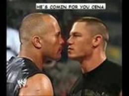 John Cena and The Rock on Raw