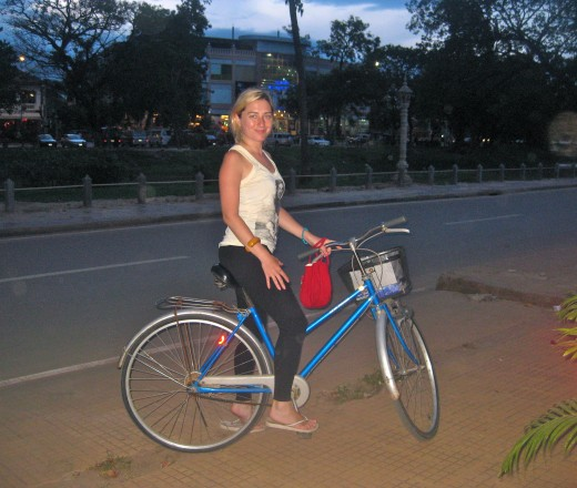 Biking is a great way to get around Siem Reap