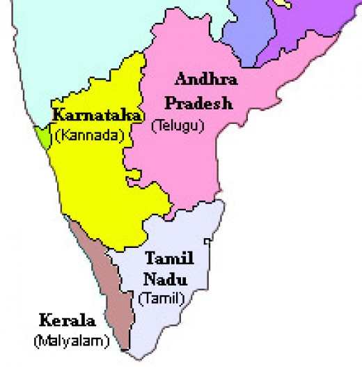Dravidian languages in South India