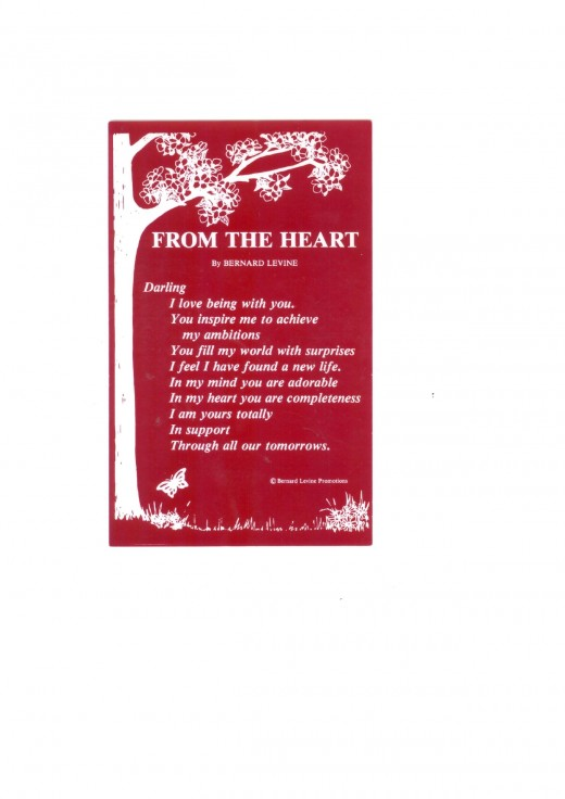 FROM THE HEART By BERNARD LEVINE
