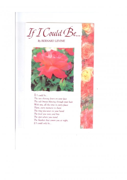 IF I COULD BE...By BERNARD LEVINE