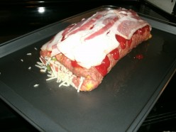 Easy Cheesy Scallion Stuffed Meatloaf Roll Up