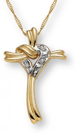 cascading heart and cross pendant for an anniversary gift.