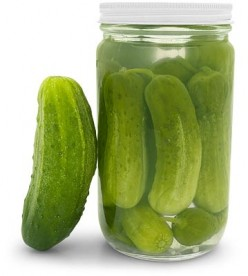 Cucumber Relish and  Pickles With Left Over Pickle Juice