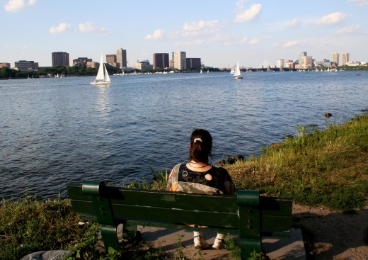 """Contemplation on (Charles) River"""