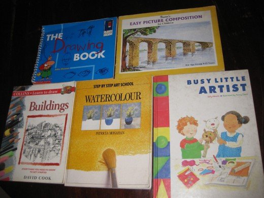 My artwork guide books which I used frequently during my childhood.
