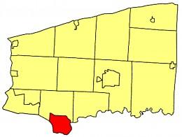 Map location of North Tonawanda in Niagara County