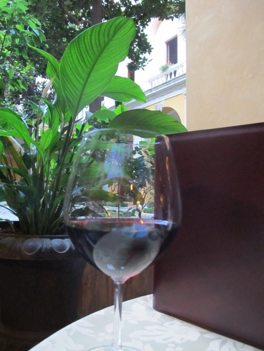 Wine at the Cardinale Cesi