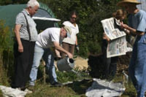 Laying Down the Newspaper