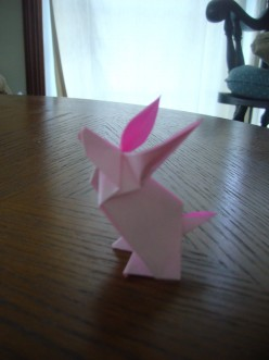 3D Origami - Cute Bunny / Rabbit for Easter Decorations