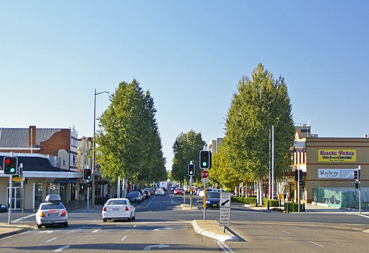 Baylis Street, Wagga Wagga in New South Wales Australia