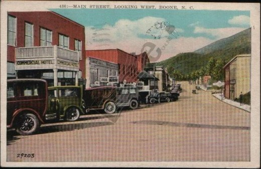 1928 Main Street Looking West, Boone, N.C.