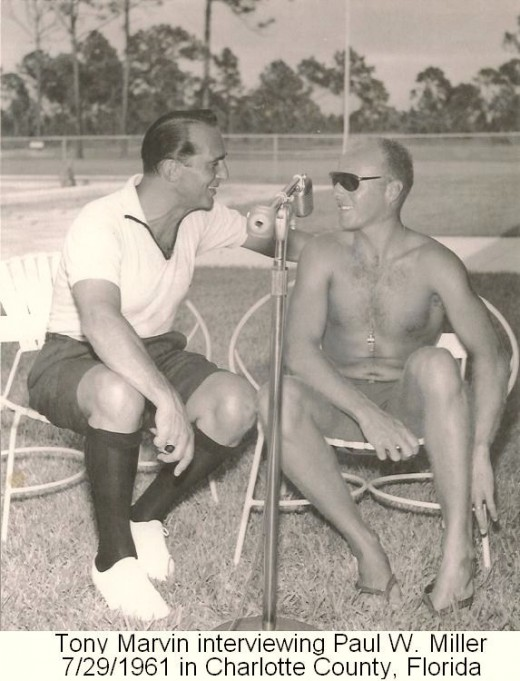 A Radio Interview regarding his Swimming and Diving Instruction.  This was done 1 day after my sister was born, his 3rd child.