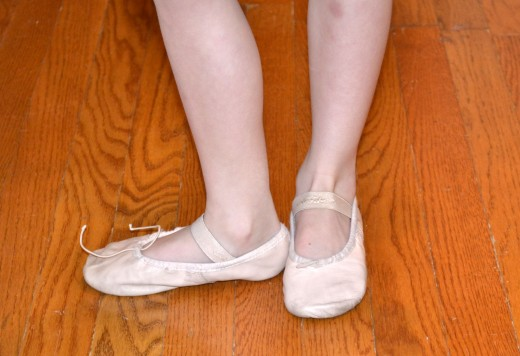 Daughter on freecyle ballet floor