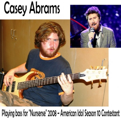 Casey Abrams paying bass for Nunsense 2008 ~ American Idol Season 10 Contestant