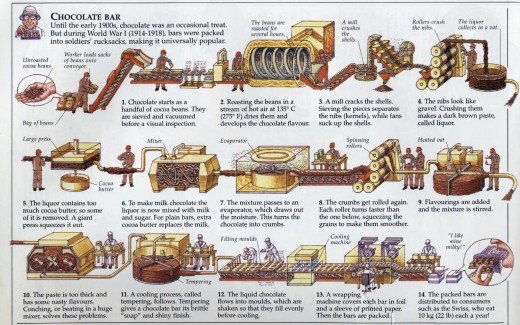 Chocolate Making Diagram