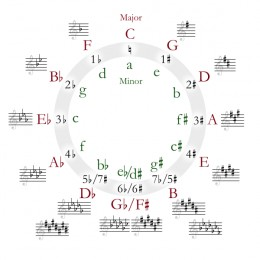 This is an example of the circle of fifths. It shows correspondence between notes and how they work together.