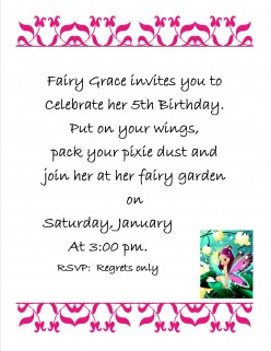 Sample Invitation Letter For Birthday Party Image Collections - Examples of birthday invitation letter