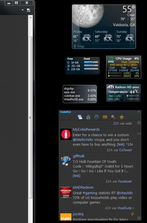 This is how I have my tweetz gadget setup.