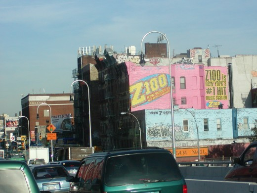 Coming off the Williamsburg Bridge into the lower Eastside.   © Eric Heifetz