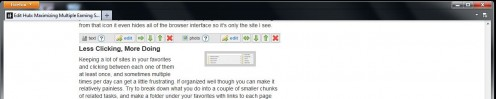 When browsing normally, nothing is visible of the interface, including any toolbars installed.