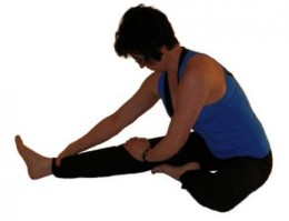 #1: Strengthen and stretch your calf muscles: Stretch with your knee bent.