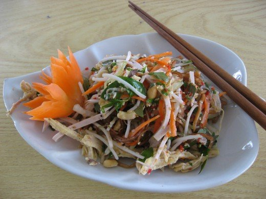 Banana Blossom Salad with carrot (Nom Hoa Chuoi)