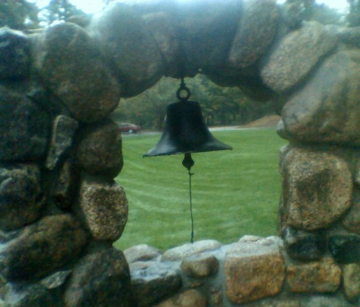 Architecture: Mission bell at Stonehurst Manor