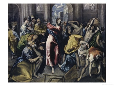 Christ Driving Moneychangers from the Temple, by El Greco