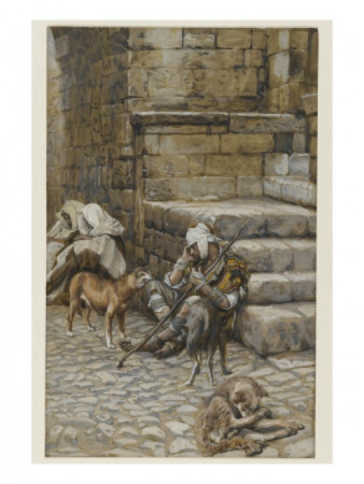 Poor Lazarus at the Rich Man's Door, from the Life of Christ, by James Jacques Joseph Tissot