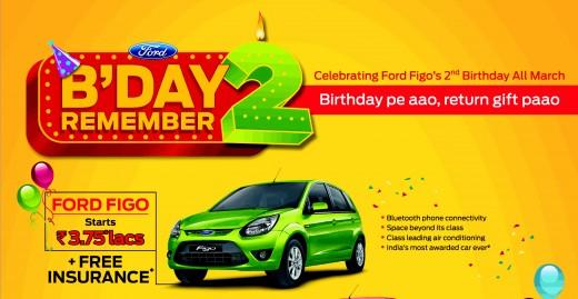 Ford Figo Petrol Offers Discount, Free Insurance upto 16,000 INR