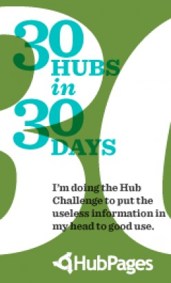 "Day #4 of my ""30 Hubs in 30 Days"" Challenge."