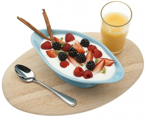 Yogurt, Berries and Juice